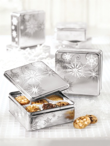 Silver Snowflake Mini Tin