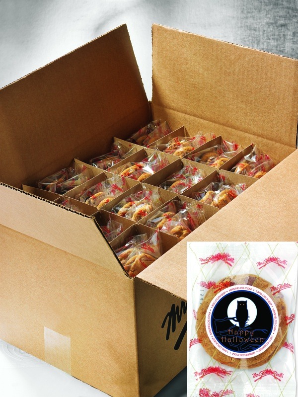 100 Individually Wrapped Happy Halloween Cookies