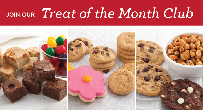 Cookies, brownies, gifts, mrs. fields, treat of the month