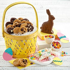 Easter cookie gift baskets cookie gifts delivery mrs fields easter basket of bites negle Choice Image