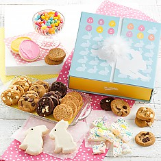 Easter cookie gift baskets cookie gifts delivery mrs fields cottontail gift box negle Image collections