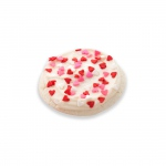 1 Frosted Cookie With Heart Sprinkles