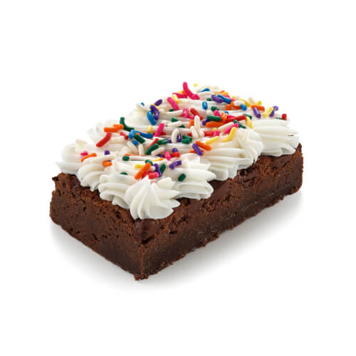 White Frosted Fudge with Sprinkles