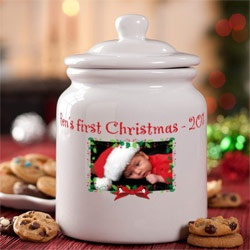 Holiday Personalized Cookie Jar