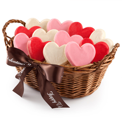 Frosted Hearts Basket