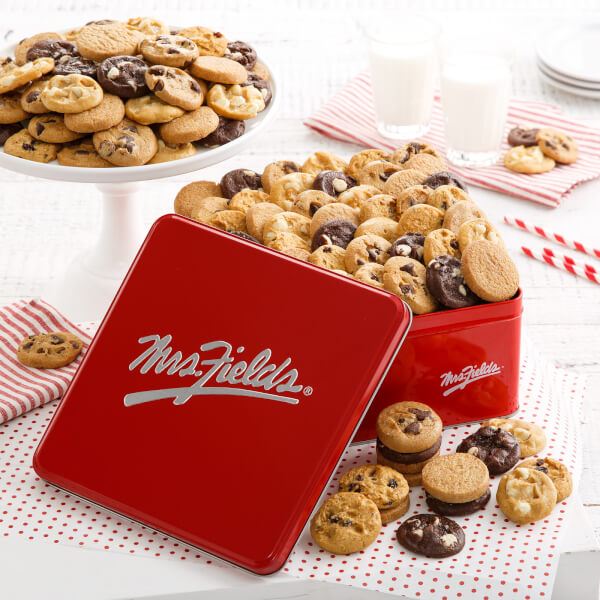 Mrs Fields 90 Nibblers Signature Tin