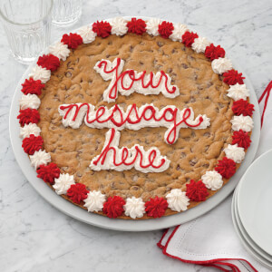 Round Shaped Personalized Cookie Cake