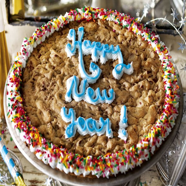 Happy New Year Big Cookie Cake