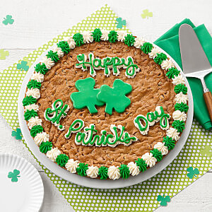 Happy St Patricks Day Big Cookie Cake