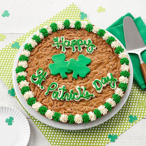 St. Patricks Day Cookie Cake