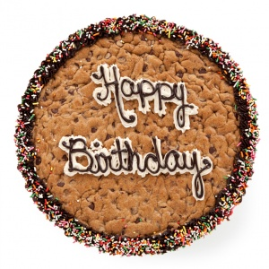 Birthday Greetings Big Cookie Cake