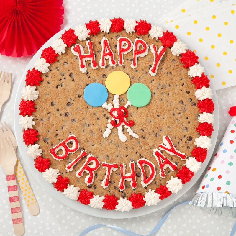 Stupendous Happy Birthday Cookie Cake Mrs Fields Funny Birthday Cards Online Overcheapnameinfo