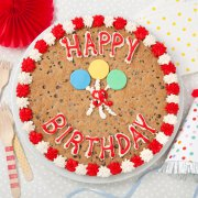 Birthday Balloons Big Cookie Cake