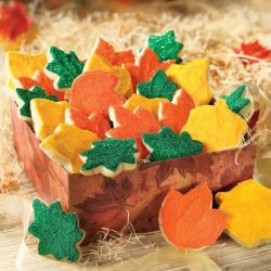 Frosted Leaves Cookie Box