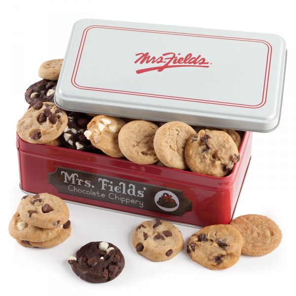 Mrs. Fields chocolate chippery red box