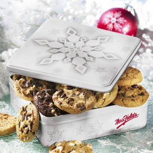 Snowflake Tin of Cookies