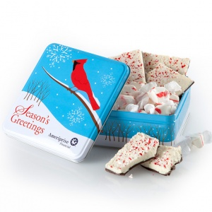 Mrs Fields Ameriprise Financial Cardinal Tin Peppermint Bark