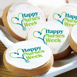 Nurses Week Logo Cookies