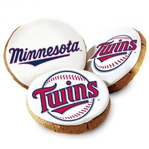 One Dozen Minnesota Twins White Logo Cookies