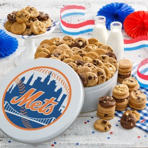 New York Mets 112 Nibbler White Tin