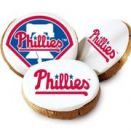 One dozen Philadelphia Phillies Logo Cookies