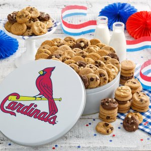 St Louis Cardinals 112 Nibbler White Tin