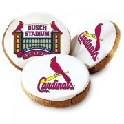 One dozen brSt Louis Cardinals Logo Cookies