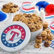 Texas Rangers 112 Nibbler White Tin