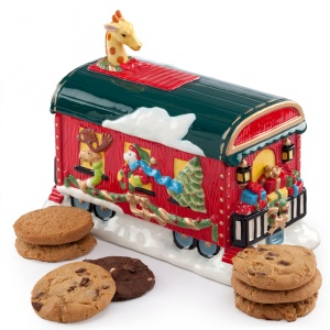 Holiday Circus Cookie Jar