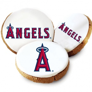 One Dozen Los Angeles Angels White Logo Cookies