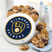 Milwaukee Brewers 54 Nibbler White Tin