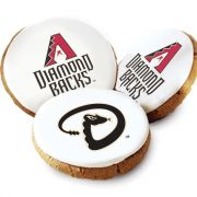 One Dozen Arizona Diamondbacks White Logo Cookies