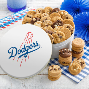 Los Angeles Dodgers 54 Nibbler White Tin