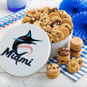 Miami Marlins 54 Nibbler White Tin