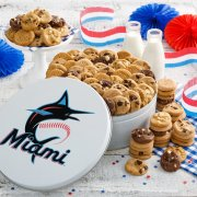 Miami Marlins 112 Nibbler White Tin