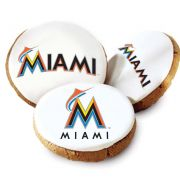 One Dozen Miami Marlins White Logo Cookies