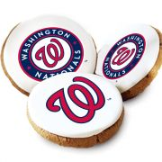 One Dozen Washington Nationals White Logo Cookies