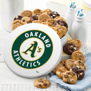 Oakland Athletics 54 Nibbler White Tin