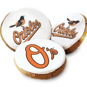 One Dozen Baltimore Orioles White Logo Cookies