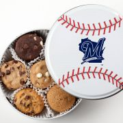 Milwaukee Brewers Baseball Tin 18 Nibblers