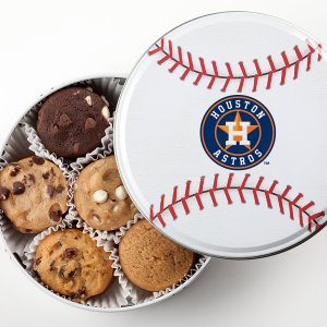 Houston Astros Baseball Tin 18 Nibblers