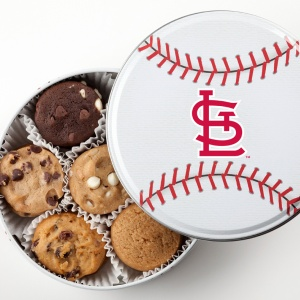 St Louis Cardinals Baseball Tin 18 Nibblers