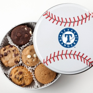 Texas Rangers Baseball Tin 15 Nibblers