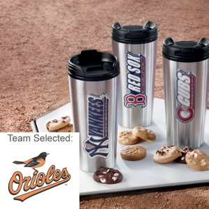 Baltimore Orioles Stainless Steel Mug 12 Nibblers