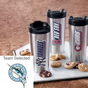 Miami Marlins Stainless Steel Mug 12 Nibblers