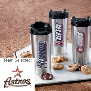 Houston Astros Stainless Steel Mug 12 Nibblers