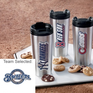 Milwaukee Brewers Stainless Steel Mug 12 Nibblers