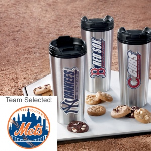 New York Mets Stainless Steel Mug 12 Nibblers