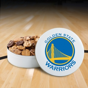 Golden State Warriors 54 Nibbler White Tin