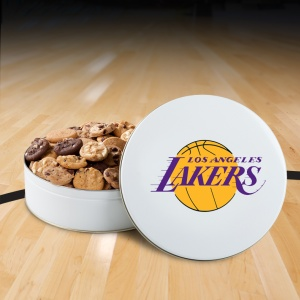 Los Angeles Lakers 54 Nibbler White Tin